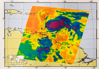 Infrared image of Hurricane Maria provides temperature data to understand how strong storms can be. Elements of this image furnished by NASA.
