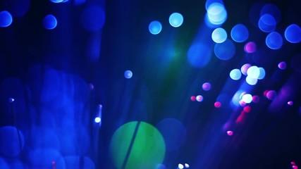 Wall Mural - Close up of colorful fiber optics