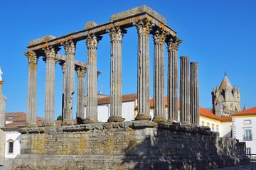 The Roman Temple in Evora, Portugal