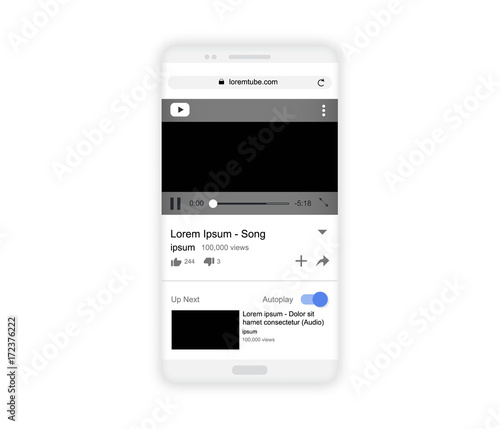 Realistic white smartphone mockup isolated on white, vector