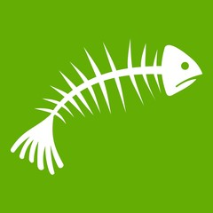 Fish bones icon green