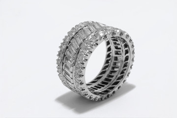 expensive ring with diamonds and gold