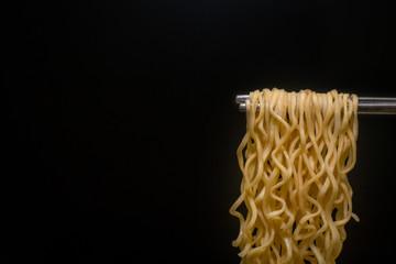 Ainstant noodles  top view  clean background