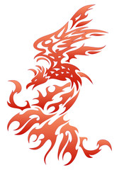 fiery bird tattoo