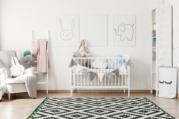 Scandi child's room with bed