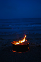 Campfire at the beach 1