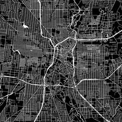 San Antonio, Texas. Downtown vector map.