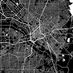 Dallas, Texas. Downtown vector map.