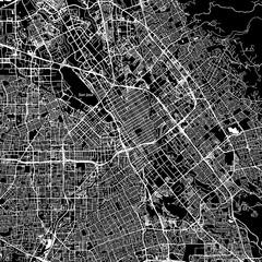 San Jose, California. Downtown vector map.