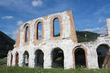 Ancient roman amphitheatre in Gubbio Umbria, Italy