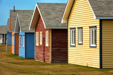 Beach houses in Magdalen island
