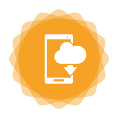 App Icon gelb - Smartphone - Wolke