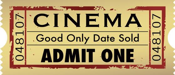 vintage grunge movie ticket