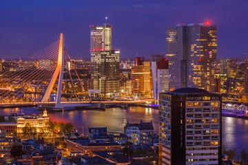 Photo sur Aluminium Rotterdam Rotterdam cityscape - Netherlands