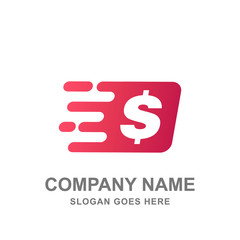Fast Money Transfer Payment Logo Vector Icon