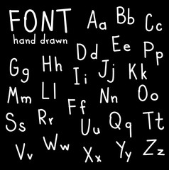 Hand drawn fonts. Handwritten alphabet style modern calligraphy