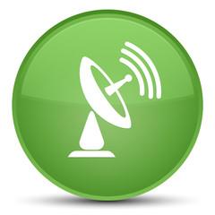 Satellite dish icon special soft green round button