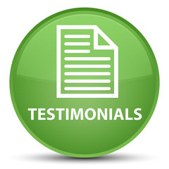 Testimonials (page icon) special soft green round button