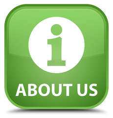 About us special soft green square button