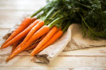 Fotoväggar - Fresh organic carrot