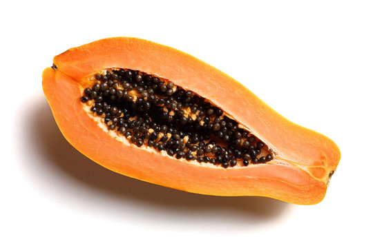 Papaya fruit cross-section
