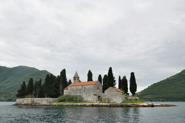 Benedictine monastery on Saint George Island, Bay of Kotor, Montenegro