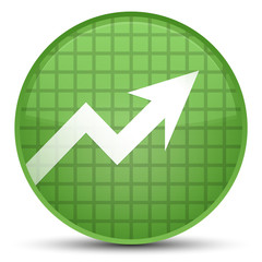 Business graph icon special soft green round button