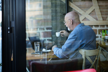 Businessman constantly working