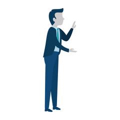 successful businessman talking avatar character