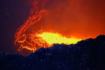 Masaya active volcano lava lake Nicaragua