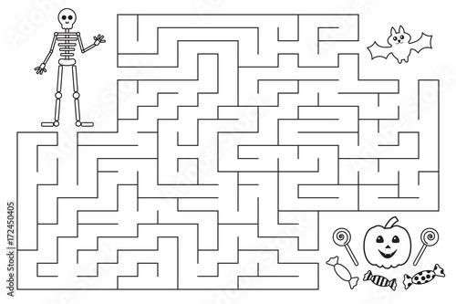 """""""Halloween Funny Maze For Preschool And School Kids"""