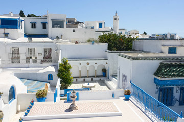 View of the town Sidi Bou Said
