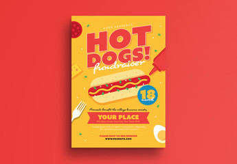 Hot Dog Fundraiser Event Flyer 1