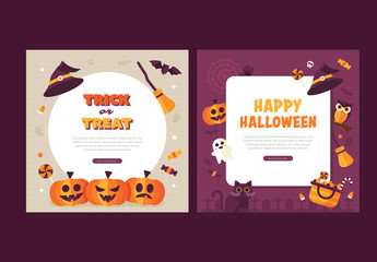 Set of Halloween Social Media Graphics 1