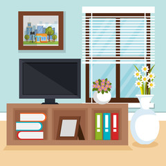 living room scene icon