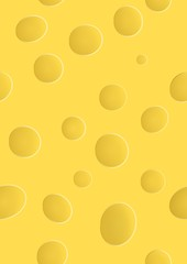 yellow cheese with holes, seamless pattern
