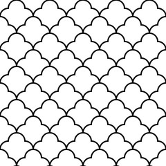 Scales geometric seamless pattern, background, vector illustration