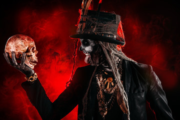 a skull and baron samedi