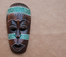 African mask with space for text.