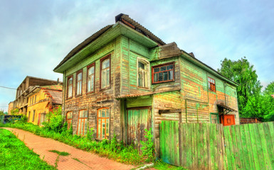Traditional Russian wooden house in Rostov