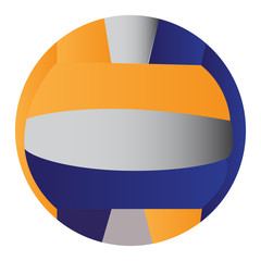 Isolated volleyball ball on a white background, Vector illustration