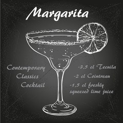 margarita cocktail vector1