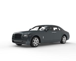 Dark slate grey modern luxury car