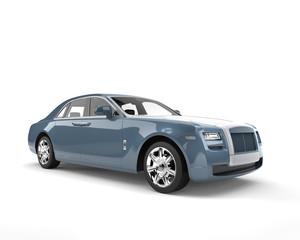 Blue metallic modern luxury business car - beauty shot