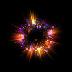 Abstract background. luminous swirling. Elegant glowing circle. Bright cloud. Radial rays. Fireworks.Sparking particle. Space tunnel. Colorful ellipse. Glint sphere. Glow galaxy. Magic portal