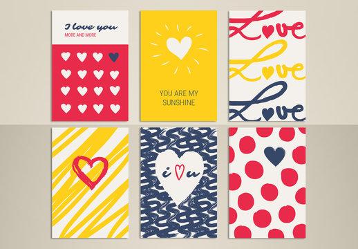 Romantic Greeting Card Set