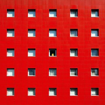 Facade of red building