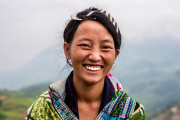 Smiling woman from Vietnam