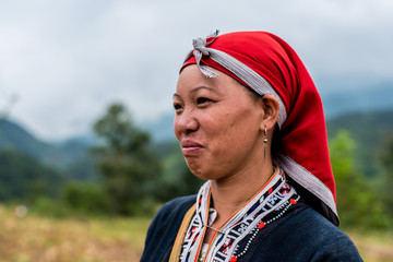 Laughing adult woman from Northern Vietnam