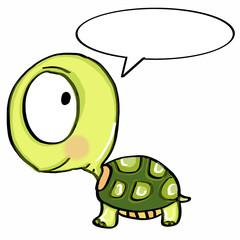 cute turtle  speaking